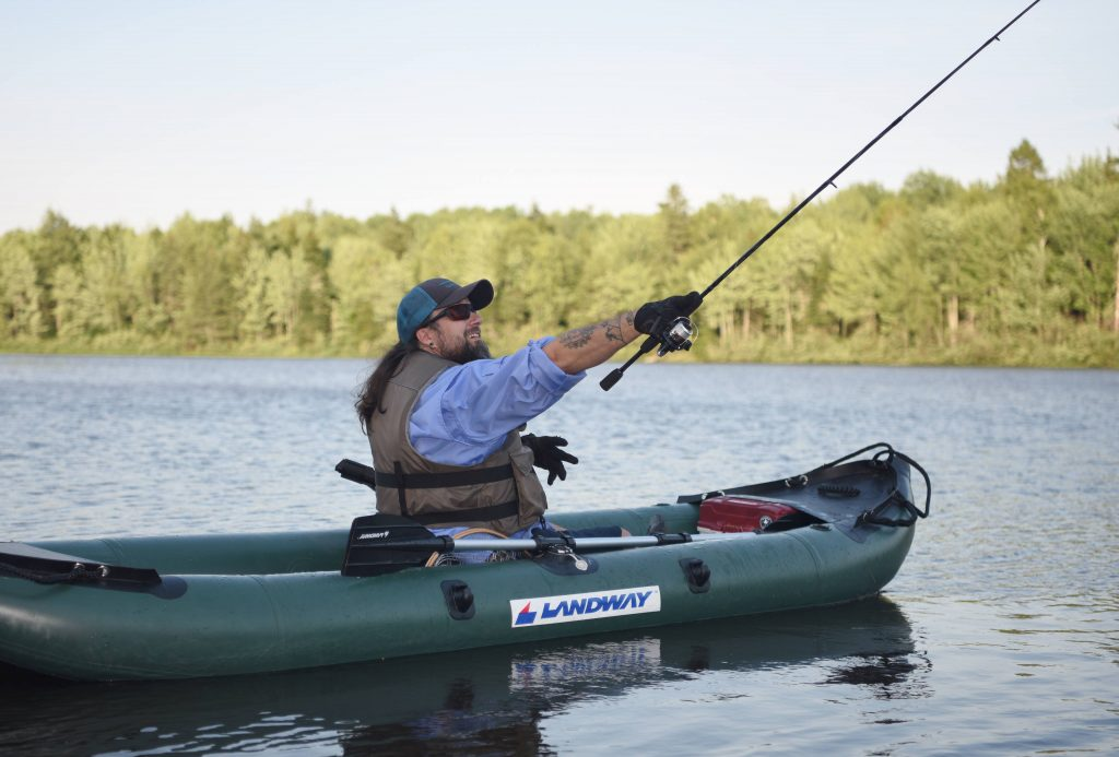 landway sports inflatable kayak fishing