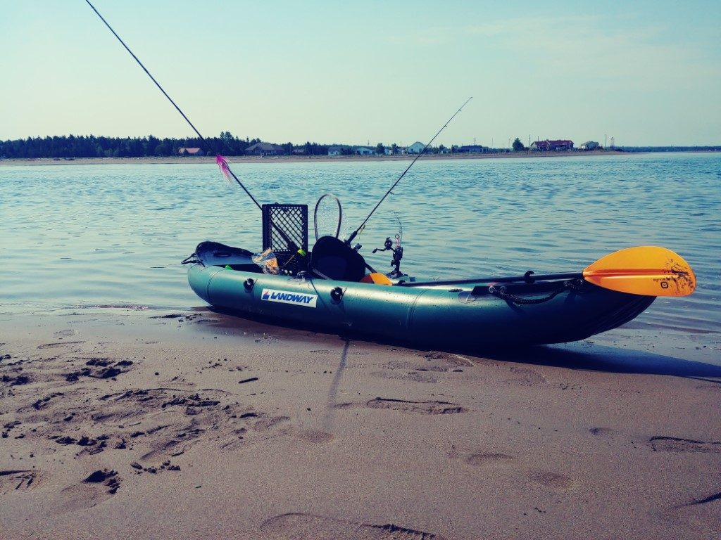 landways inflatable kayak setup